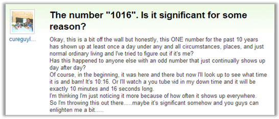 1016 on Yahoo! Answers