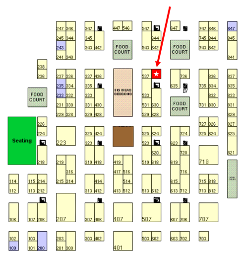 Shop.org floorplan - Guidance/Magento booth #636