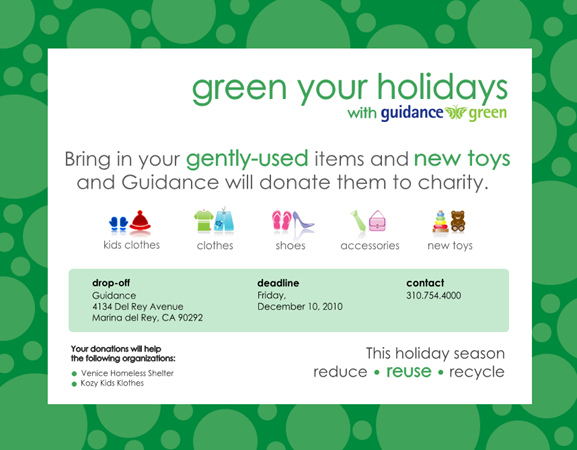 Green Your Holidays with Guidance Green