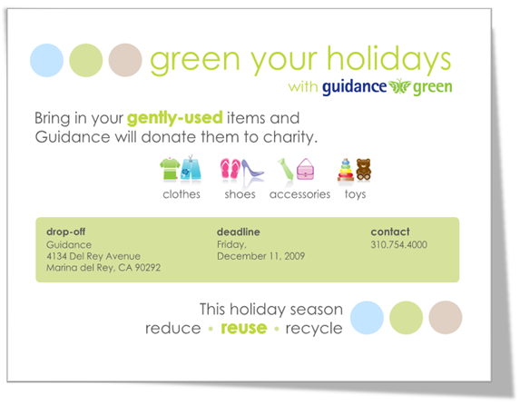 Green Your Holidays with Guidance Green!