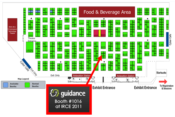 Guidance booth at IRCE 2011