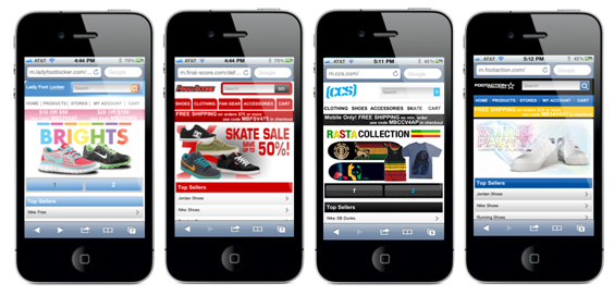 Mobile Sites - Lady Foot Locker, Final-Score, CCS, Footaction