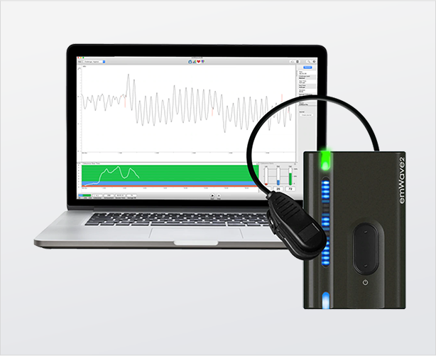 HeartMath Device with Laptop