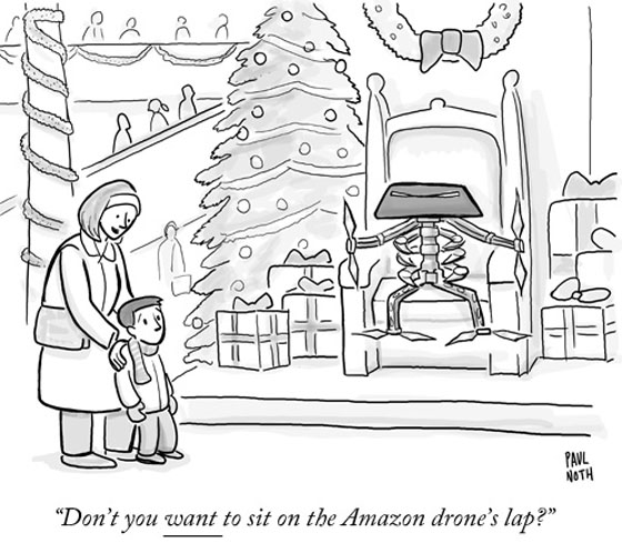 A little eCommerce holiday humor courtesy of The New Yorker, (Daily Cartoon, Monday, December 2, 2014).